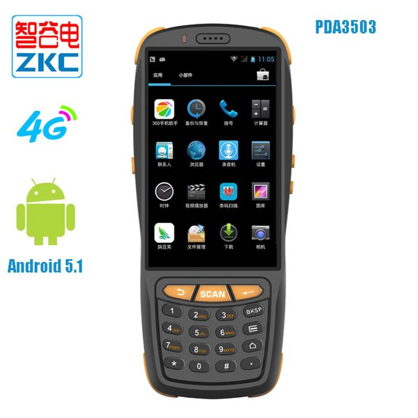 top popular 4G 4'' Touch Screen Handheld PDA Terminal With Barcode Scanner PDA3503 2019