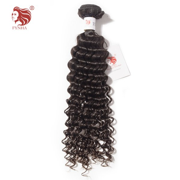 Fynha Brazilian Virgin Human Hair Deep Curly Weave Human Hair 1