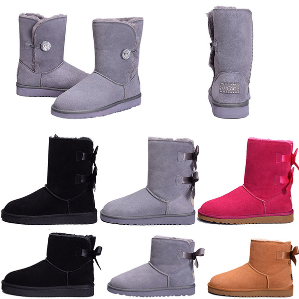 ca8cf961bc4 Casual Shoes Ugs Winter Australia Warm Snow Boots Nice Wgg Tall Boots Hot  Sale Pink Bailey Bowknot Women'S Bailey Bow Knee Boots Zapatillas Black ...