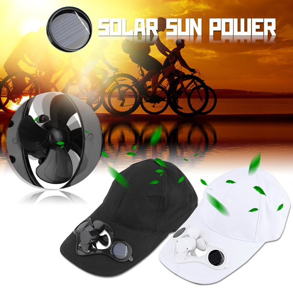 Solar Power Fan Hat Cap Fishing Summer Sport Outdoor Hat Cap with Solar Sun Power Cool Fan for Cycling Energy Save No Batteries Required Blue