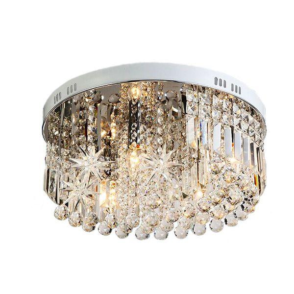 OOVOV Crystal Star Moon Plafonniers Chambre Creative Plafonnier Kids Light Plafonnier
