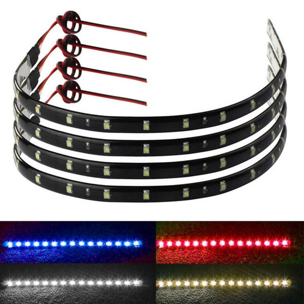 best selling 30CM 15 LED Car Motors Truck Flexible Strip Light Waterproof 12V Auto Decorative Accessories Car Styling