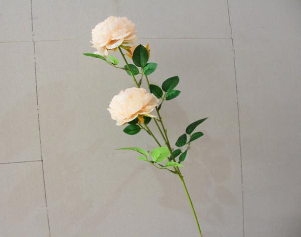Фабрика Тяньцзинь Золотое Солнце Искусственные Цветы 3 головы 6 листьев Пион Цветок для отображения партии или Свадебные Украшения GHY-FL-3