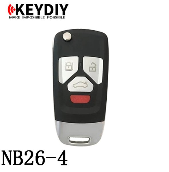 KEYDIY NB serisi NB26-4 KD300 ve KD900 için herhangi bir model uzaktan üretmek için İşlevli uzaktan anahtar