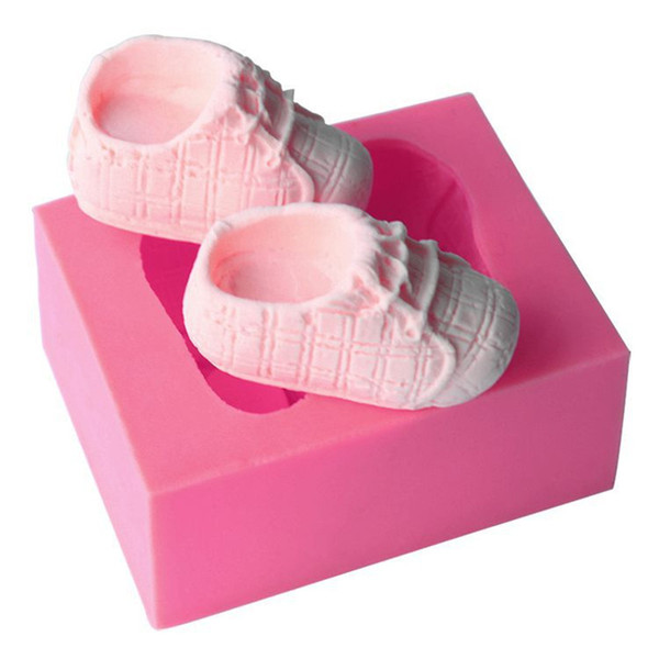Cute Baby Shoes Shape Silicone Cake Mold DIY 3D Bake ware Mold For Chocolate Cookie Clay Fondant Cake Decorating Tools