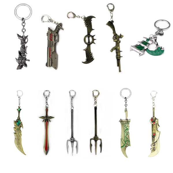 Hot Game LoL Thresh Weapon League of legendes Keychains Trendy Accessories Women Men Key Chain Chaveiro Drop Shipping