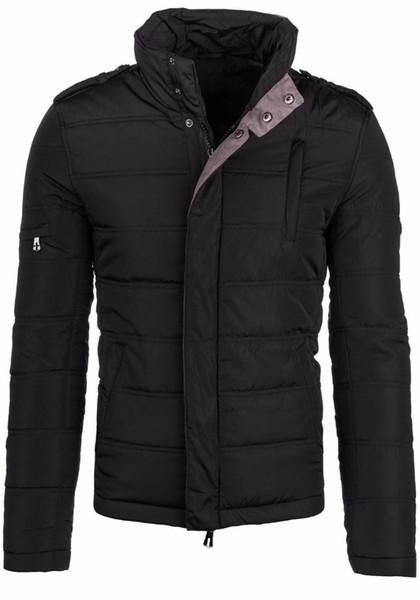 2016 Avrupa ve Amerikan Yüksek kalite Kış Adam Parkas stand up yaka termal kalınlaşma pamuk yastıklı ceket D010
