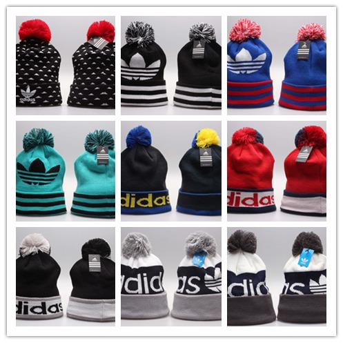 2018 wholesale price New Pom Poms Winter Hat for Women Fashion Solid Warm Hats Knitted Beanies Cap Brand Thick male and Female Cap Wholesale