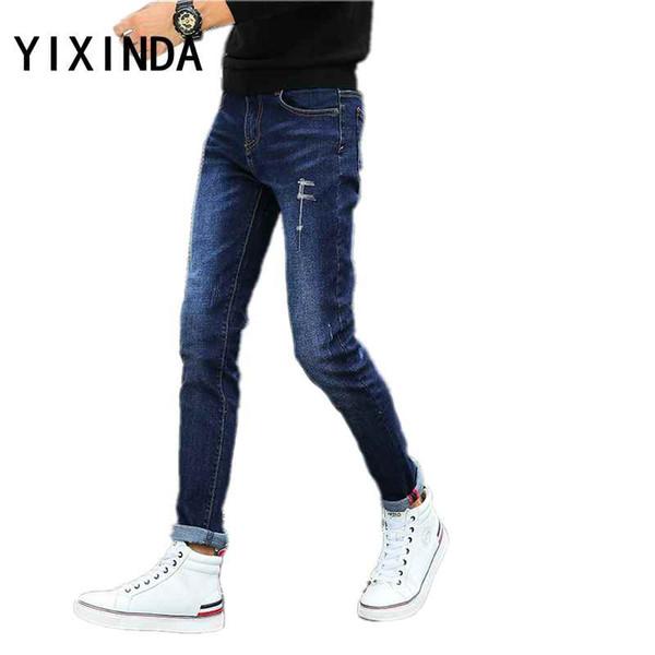 minorista online eb2c6 2d625 2019 YIXINDA Men'S Classic Jeans Large Size Straight Pantalon Homme Jean  Slim Distressed Design Biker Pants Fit Cheap Regular From Michalle, $57.61  | ...