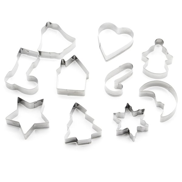 Cookie Cutter Christmas.2019 Stainless Steel Cookie Cutter Christmas Star Heart Tree Sock Shape Mold Christmas Series Biscuit Cutters From Bz1452588 2 06 Dhgate Com