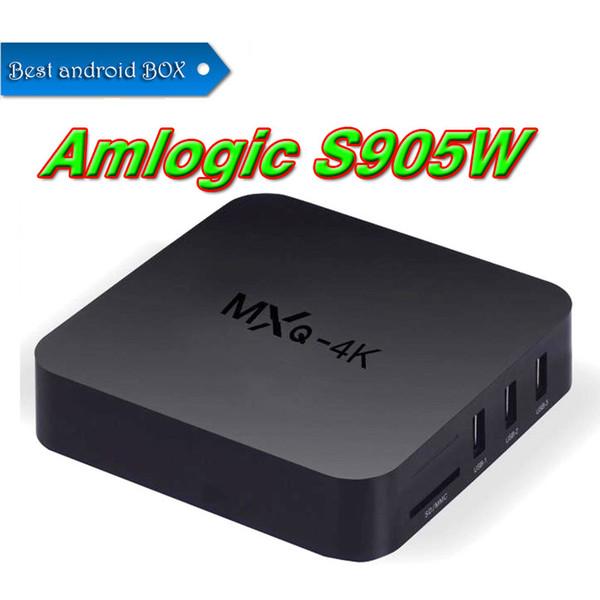 MXQ Pro 4K Android 7.1 TV Box 1GB 8GB Amlogic S905W Quad Core Streaming Media Player Internet Boxes better S905W TX3 x96 mini