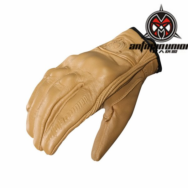 top popular 2018 Hot Motorcycle Gloves Real leather all-male and female general-purpose motorcycle racing gloves S-XXL 2019