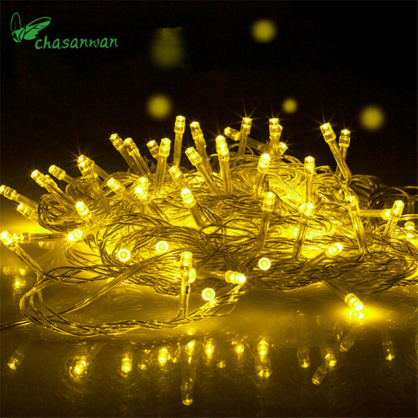 Noel 10M 100LED Lighting Wedding Fairy Christmas Lights Outdoor Twinkle Decor Tree Lights for New Year Holiday Party Navidad,T