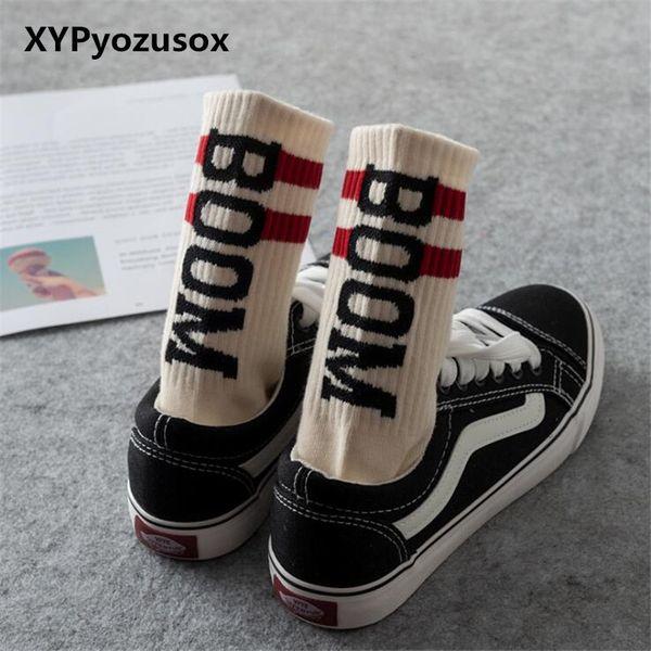 3 Colors Fashion Men Funny Socks Harajuku Letter Printed Socks Creative Hip Hop Street Skateboard Unisex Crew Happy
