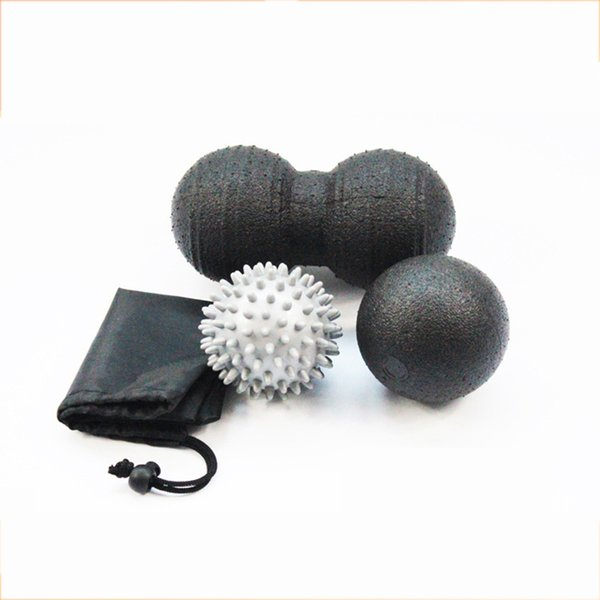 1 Set Health Peanut Massage Ball Spike Hand Fitness Ball Yoga Myofascial Release Gym Sport Body Massager Roller Equipment