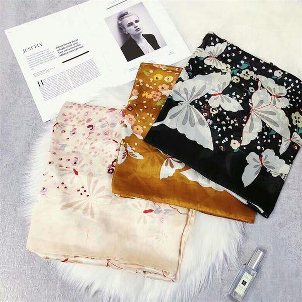 Schattierungsschal des Sommers im Freien klassisches Entwurfsdruckqualität silk Schals-Frauen arbeiten großes Taschentuch der Art und Weise um.