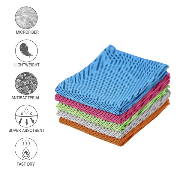 Sports Towel Cooling Ice Cold Towel Chilling Pad Neck Wrap Scarf with Absorbent for Gym Sports Outdoors Camping