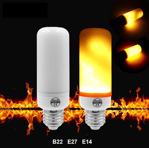 2018 Piccole Dimensioni 5W E27 B22 E14 Lampadina Fiamma LED Flicker Lampadina Fuoco Corn Bulb Lampada Decorazione Anti-crepa