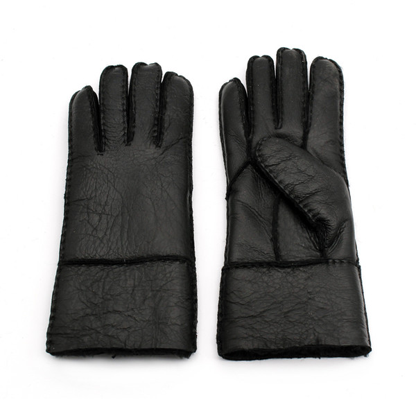 High Quality Women Full Sheepskin Gloves Woman Five Fingers Leather Gloves Fashion Ladies Winter Warm Gloves ST-W011 By Free Shipping