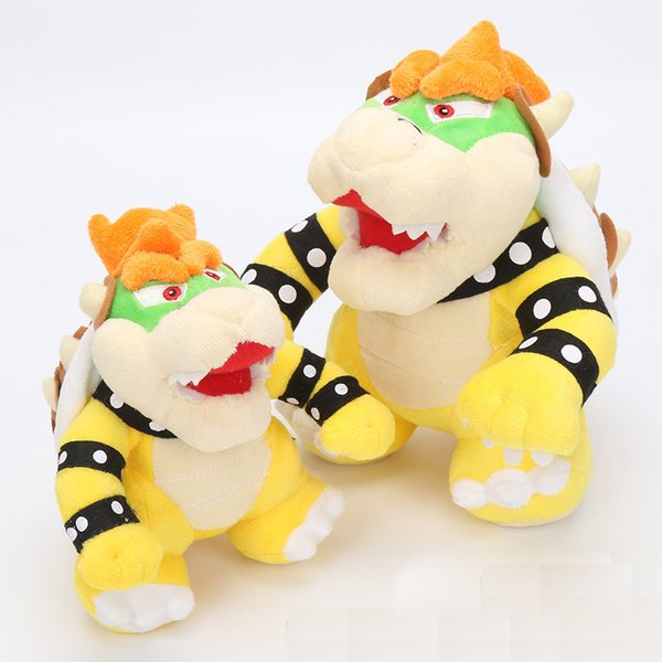 top popular Super Mario Plush Toy Bowser Koopa Plush doll 2 styles Bowser Dragon Doll 17CM And 25CM Two Size 2019