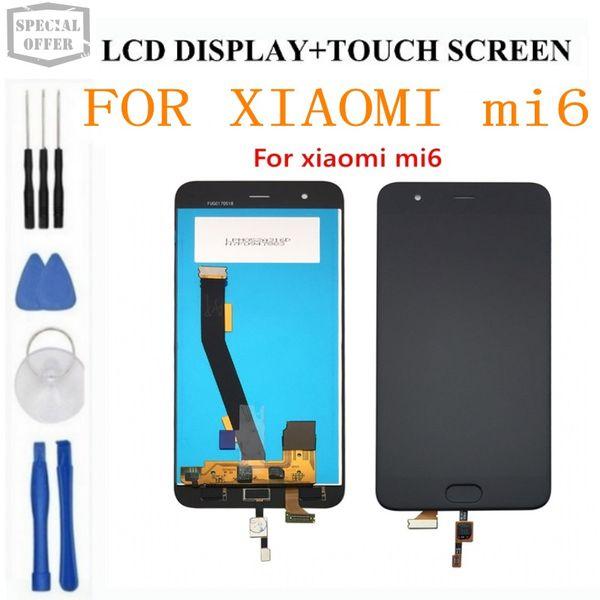 Для ЖК-дисплея Xiaomi Mi6 с дисплеем для отпечатков пальцев + сенсорный экран 100% новый FHD 5.15