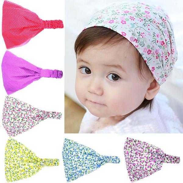 Einzelhandel Druckgewebe Turban Stirnband Für Kinder Mädchen Elastische Breite Floral Bandana Hairband Headwrap Haarschmuck