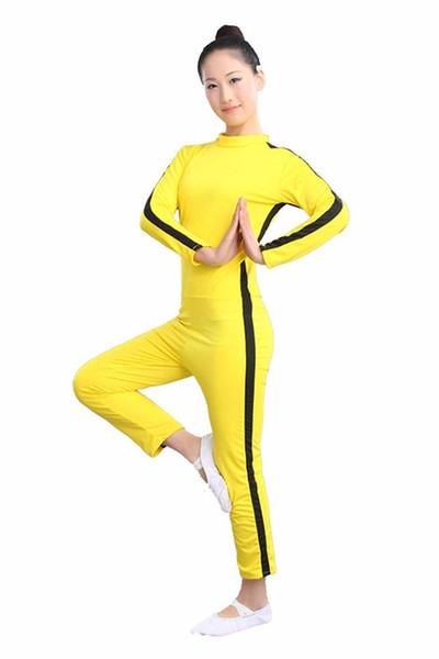 Bruce Lee Kung Fu Üniforma Erkekler Kızlar için Eşofman Set Kadın Kostümleri Kıyafet Oyunu Cosplay