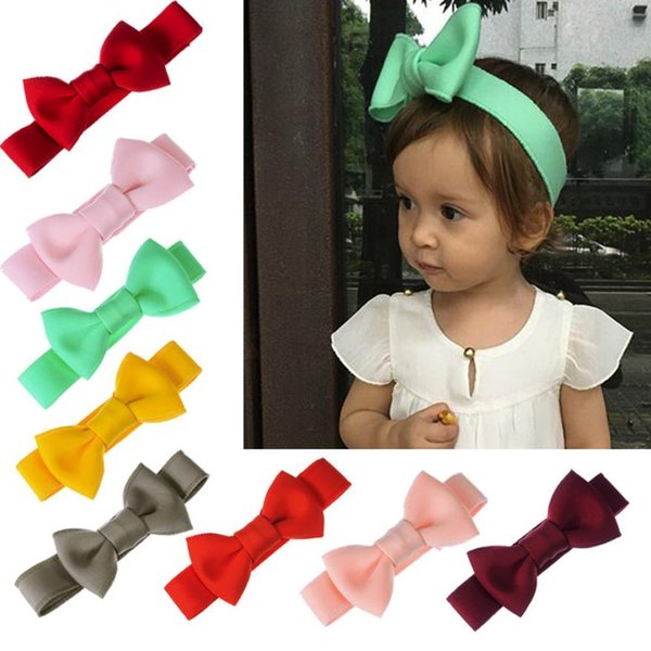 Baby Headwear Baby Mädchen Stirnband 8 Farbe 1 STÜCKE Bogen Elastisches Haar Kopf Haarband Phtography Requisiten 18Sep29