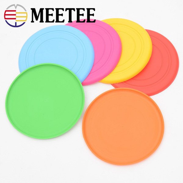 Six colors optional pet silica gel Frisbee dog toy dog toy pet stock wholesale Dog Toys