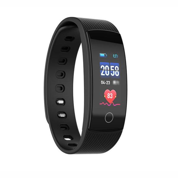 QS80Plus Inteligente Relógio Inteligente Pulseira Pulseira Rastreador De Fitness Pulseira de Freqüência Cardíaca Passometer Chamada Inteligente para Android com Caixa De Varejo