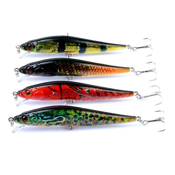 Hot-selling 4pcs/lot Fishing Baits 10cm/10g 3D Laser Minnow Fishing Lures 8 Colors Fishing Tackle Free Shipping