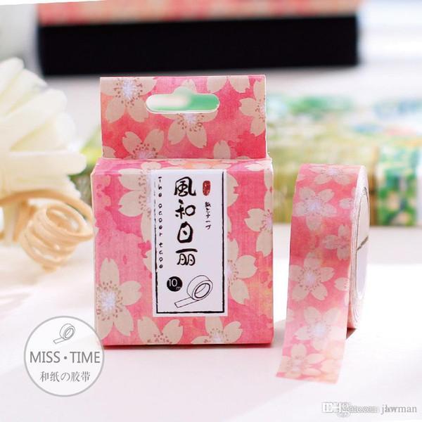Wholesale- 2016 Fashion Japanese Kawaii Washi Tape Stickers DIY Masking Tape Scrapbook Decorative Tape Papeleria Cute Stationery 15MM*10M