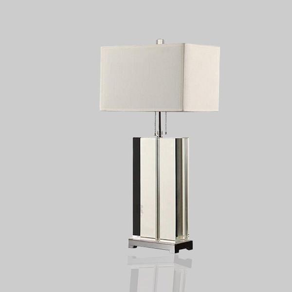 Luxus Moderne Tischlampe Kristall Tischlampe Stoff Lampenschirm Wohnzimmer  Abajur Für Schlafzimmer Lamparas De Mesa
