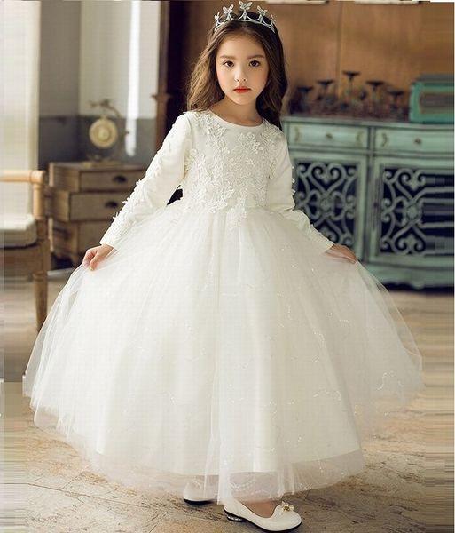 New Beautiful Kids Flower Girl Dress Charming Princess Girls Party Prom Birthday Weddings Bridesmaid Children Dress ST107