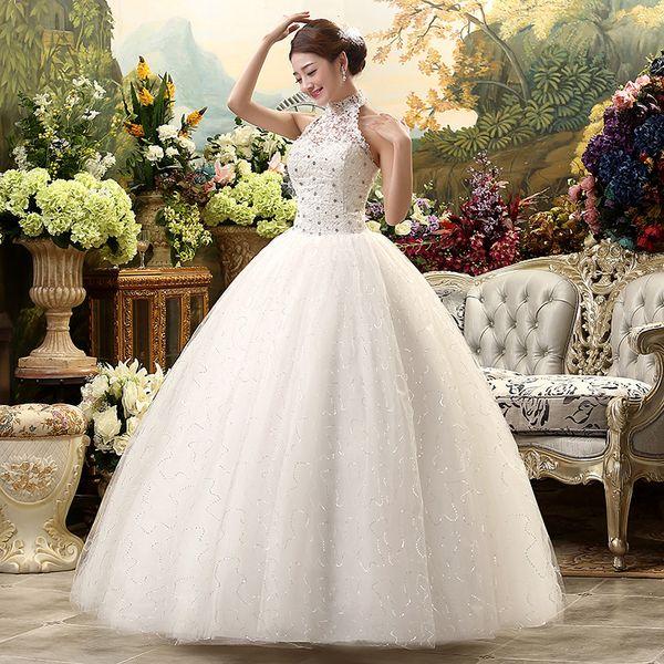 2018 Cheap Halter Lace Wedding Dress Vintage Vestidos De Novia Plus Size  Bride Dress Under $100 Discounted Wedding Dresses Online For Wedding  Dresses ...