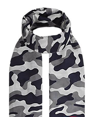 2019 Women Classic Style Scarves Wraps Silk Wool Shawls Pashmina Monogra Camouflage Stole M71625