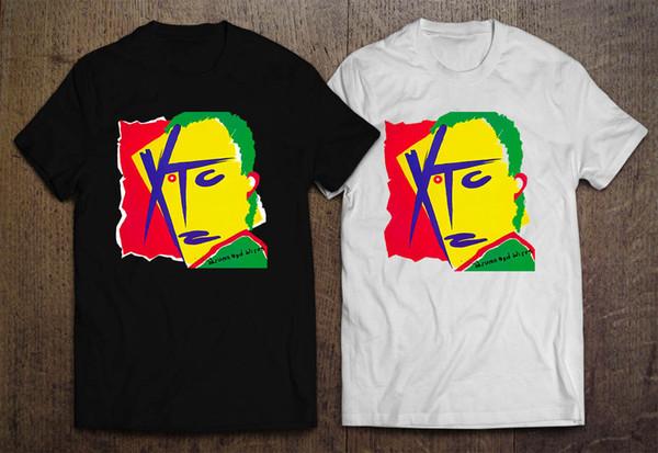 Maglietta bianca nera degli uomini della banda di Pop Rock Band degli aranci e dei limoni di XTC Maglietta libera di trasporto Maglietta degli uomini