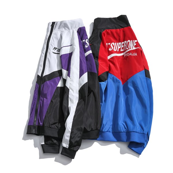 Hommes Bomber Veste Homme Couture BTS Vestes Et Manteaux Mâle Hiphop Coupe-Vent Vêtements 2018 Plus La Taille