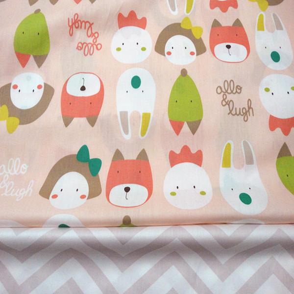 Wave/cartoon print 100%cotton fabric for baby cloth 10yards/lot tomo1814