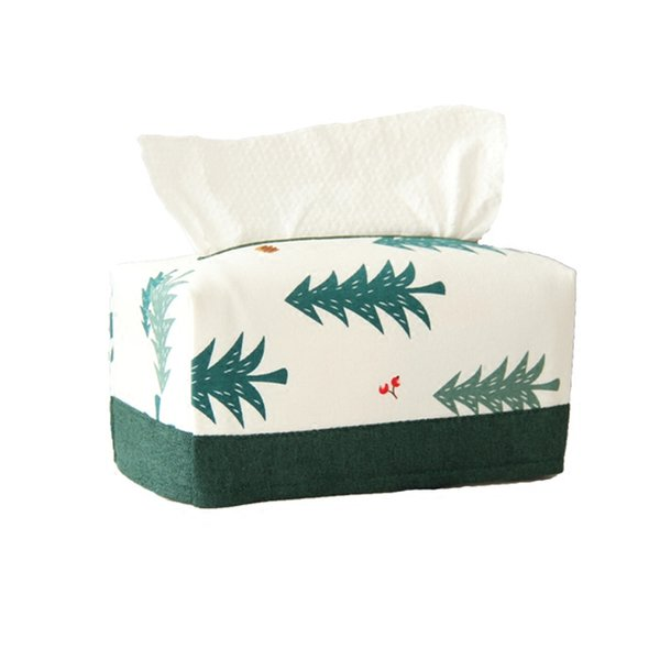 Original Tissue Box Christmas Tree Pumping Box Idyllic Windmill Paper Towel Sets Cotton Linen Washable Paper Cover