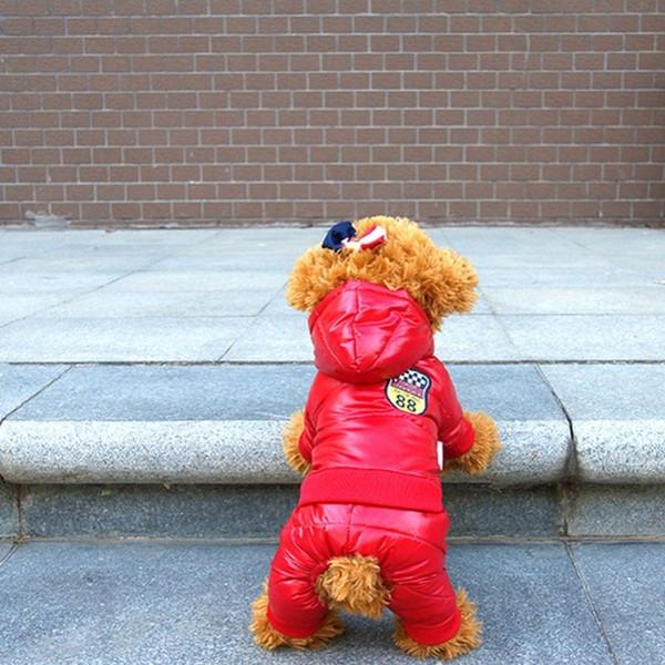Neue Wasserdichte Stoff Hundemantel Winter Große Größe Hund Kleidung Verdickung Hund Daunenjacke Kleidung Für Haustier Hunde Kostüm