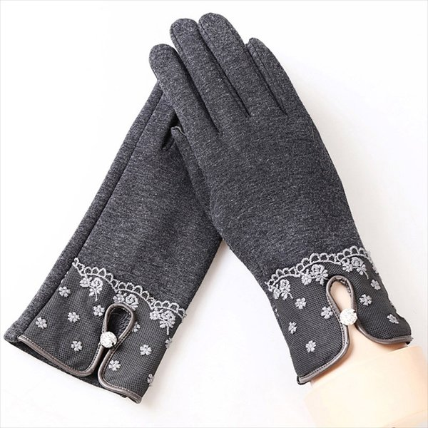 SuperB&G 2018 Fashion Touch Screen Gloves Warm Winter Women Gloves Female Lady Mittens Floral Wrist Hot Selling 29 Colors