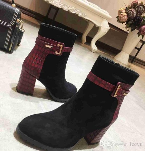 5A Fashion ladies small boots top leather sheepskin wear resistant and anti slip size34-40 6499240 DHL Free Shipping