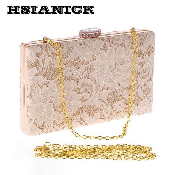 2017 Sale Direct Selling Diamonds Women Cool Lace Design Evening Dinner Clutch Bag Diamond Head Women's Party Wedding Handbag