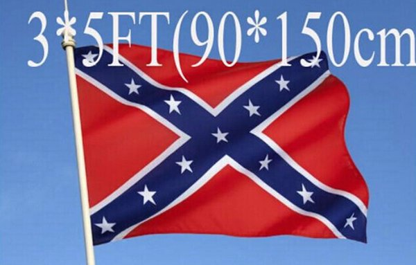 5pcs two Sides Printed Flag Confederate Rebel Civil War Flag National Polyester Flag 5 X 3FT free shipping H11w