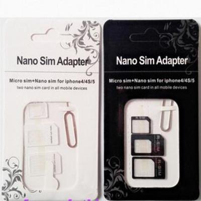 NOOSY Nano Micro Sim Conversor de Conversão de Cartão Padrão 4 em 1 Adaptador Nano Sim Micro Cartão Sim Para Iphone 6 Todos Os Dispositivos Móveis S10 hot DHL