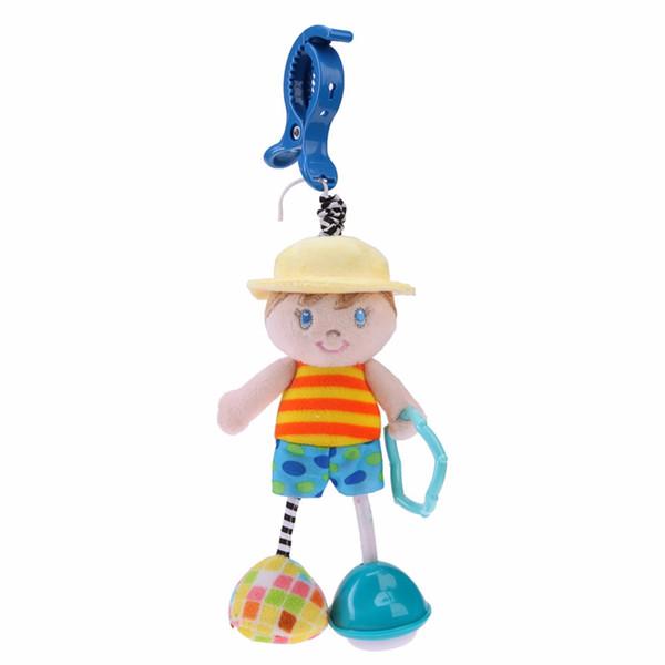 Engraçado Infantil Chocalho Do Bebê Brinquedos Animal Berço Cama Apaziguar Carrinho de Pingente Pendurado Accessaries Bebê Aprendizagem Precoce Boneca Brinquedo