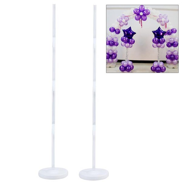 2pcs Balloon Column Stand Kits Arch Stand with Frame Base and Pole for Wedding Birthday Festival Party Decoration