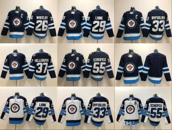 Winnipeg Jets 2016 Heritage Classic 29 Patrik Laine Jersey Uomo 26 Blake Wheeler 33 Dustin Byfuglien 55 Mark Scheifele Hodkey Maglie