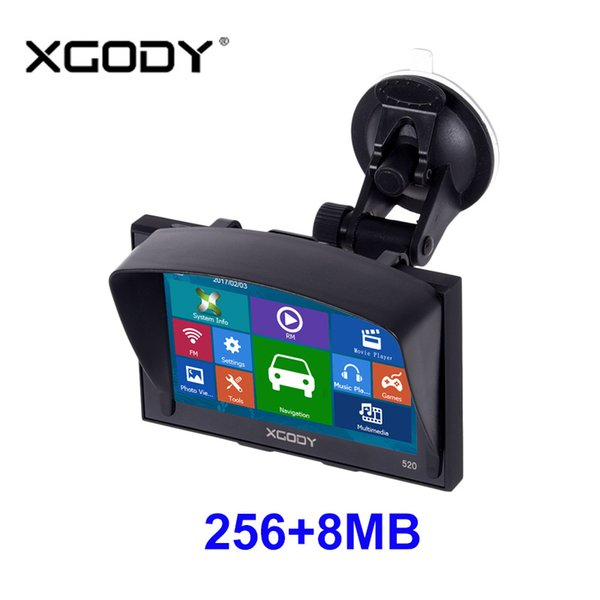 2019 Xgody Gps Navigation 5 Inch For Car And Truck 256MB+8GB FM Sat Nav  Navigator Navitel Russia Optional Lifetime Updated Map Free From Icardeal,